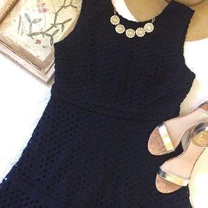 NWT Aqua for Nordstrom Black Lace Dress